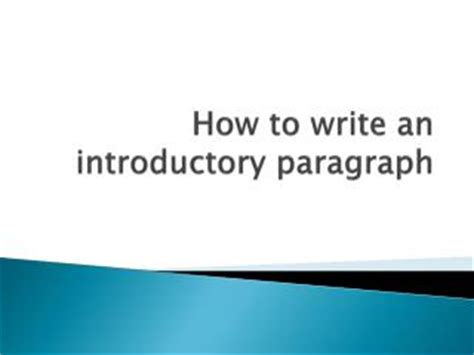 How to make introduction in essay